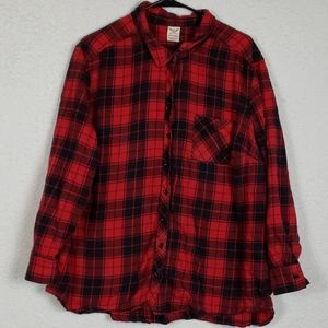Womans buffalo check long sleeve size 3X